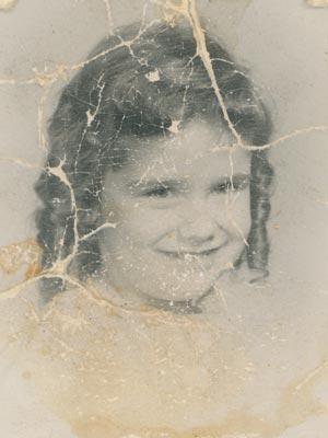 creased photo restoration before