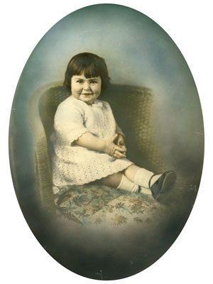 Hand coloured photo restoration before