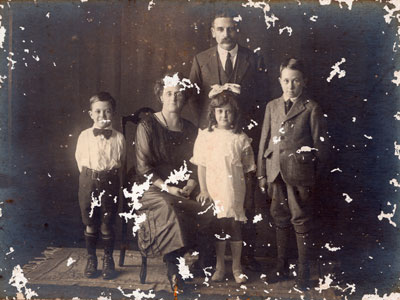 insect damaged photo restoration before